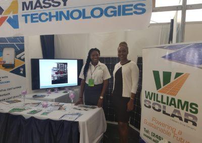 Green Guyana Expo- Williams Solar Booth-Set-up